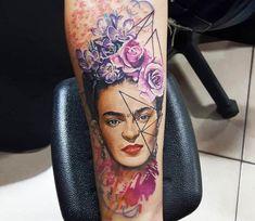 Woman with Flowers tattoo by Renata Jardim Tattoo