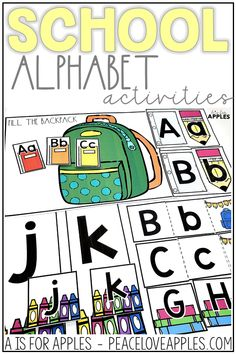 Perfect for toddlers, preschoolers, and Kindergarten children too! These are great for individual centers. Practice letter recognition, ABC order, letter matching, and more.