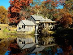 Mabry Mill, Meadows of Dan, Virginia.have been here a lot over the years! Blue Ridge Parkway Virginia, Meadows Of Dan, Virginia Wineries, Fall Pictures, Autumn Photos, Nature Photos, Blue Ridge Mountains, Le Moulin, Covered Bridges