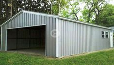 Vertical Garage - Metal Workshop Building for Sale Garage Plans, Shed Plans, Garage Doors, Garage Ideas, Barn Garage, Garage Workshop Plans, House Plans, Workshop Ideas, Yard Ideas