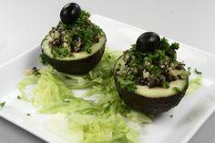 Israelsk fyldt avocado - avokado im egotzim