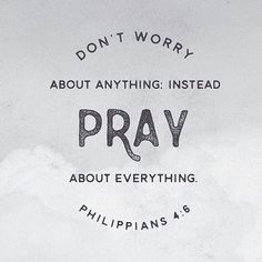 Don't worry about anything. Instead pray about everything. Philippians Click the picture for more beautiful, ready to frame Bible verse prints. Godly Quotes, Bible Verses Quotes, Bible Scriptures, Faith Quotes, Inspiring Bible Verses, Prayer Quotes, Niv Bible, Encouraging Bible Verses, Prayer Verses