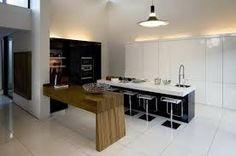 "Nico van der Meulen Architects received a brief from their clients in Gauteng, South Africa to recreate their single storey home ""House Mosey"" into Kitchen Furniture, Kitchen Interior, Modern Interior, Interior Design, White Furniture, Loft, Casa Top, South African Homes, Storey Homes"