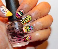 #TribalNails that I did! #tribal #manicure #nails #mani #nailsofPinterest #NOTD #girlynails #DIY #donebyme