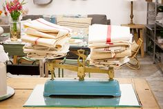 scale to hold linens, love!