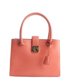 8845a18f99 Salvatore Ferragamo peach leather top handle handbag Beautiful Handbags