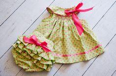 Easter Spring or Summer Polka dot Infant or by mylittlepeeps