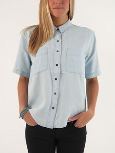 St. Gilles Short Sleeve Buttondown Shirt for women by Obey