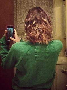 short hair ombr'e