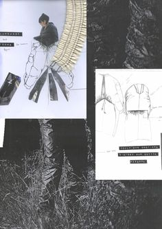 Fashion Sketchbook - tailoring development; fashion sketches & fabric research; fashion portfolio // Nkasi Onyesoh