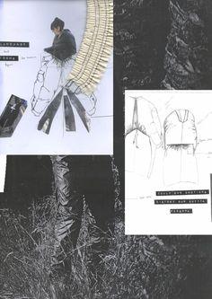 Fashion Sketchbook - tailoring development; fashion sketches & fabric research; fashion portfolio // Nkasi Onyesoh