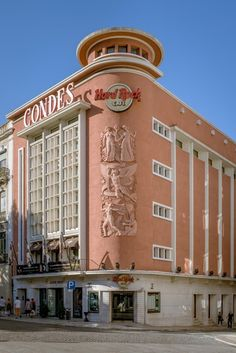 Hard Rock Cafe Lisboa, in a building that used to be one of the emblematic cinema theaters Portugal Hard Rock, Portuguese Culture, Learn Portuguese, Visit Portugal, Portugal Travel, Rock Cafe, Art Deco Buildings, Azores, Cool Countries