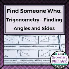Trigonometry Angles of Elevation & Depression ColorBy