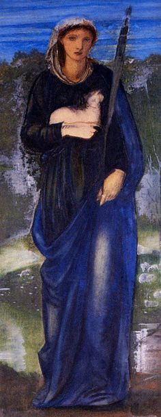 "jaded-mandarin: "" Edward Burne-Jones :: St. Agnes """