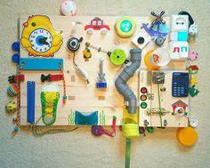 Развивающие игрушки ручной работы. Бизиборд #34 (BusyBoard) Москва (средний - 40х60 см). Развивающие бизиборды BUSYKID (busykid). Интернет-магазин Ярмарка Мастеров.