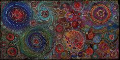 Acrylics on roof slate, applied with toothpicks, skewers & fingers. 18 x 36 Dot Painting, Art Auction, Prehistoric, Wild Flowers, Spiral, Universe, Artsy, Skewers, Acrylics