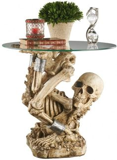 """""""Skull Decorating for Halloween""""   I say decoration for year round"""