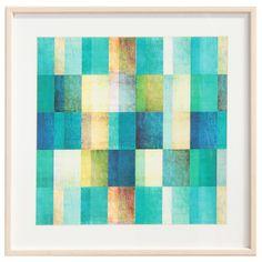 O Quadro Flerte 2 brinca com as formas geométricas e os tons de azul, trazendo uma proposta de decoração leve e descontraída para a sua parede. #picture #frame #decoratingideas #decorate #art #photography #painting