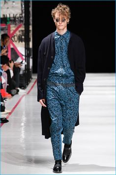 Robert Geller makes quite the statement with leopard prints for spring-summer 2017.
