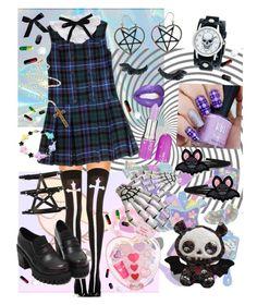 """goth"" by mumachan on Polyvore featuring ファッション, Chicnova Fashion, Rock 'N Rose, Nemesis, Napoleon Perdis, Clips と Bocage"
