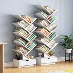 Bookcase Storage, Storage Cabinets, Bookshelves, Shelving, Tree Bookcase, Storage Rack, Corner Shelf Unit, Corner Table, Lineup