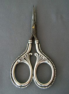Simons Fancy Sterling Silver Embroidery Sewing Scissors