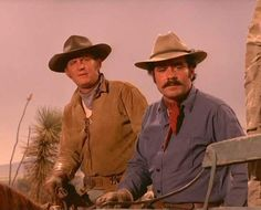 Don Collier & Bob Hoy as Sam & Joe Butler in The High Chaparral Sheb Wooley, Chief Dan George, The High Chaparral, Tv Westerns, Rare Images, Classic Tv, Butler, Art Lessons, Cowboys