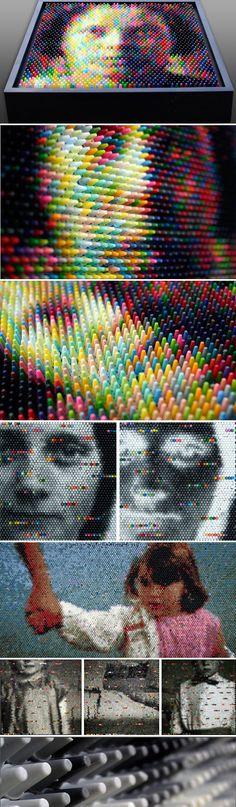 Crayon pixel art by Christian Faur - Journal du Design