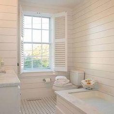 nina liddle design bathrooms ivory shiplap paneling ivory shiplap clad bathroom shiplap paneled walls bathroom shiplap plantation shutters
