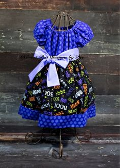 Halloween dress toddler dress purple by SweetpeadesignsbyDee, $28.00
