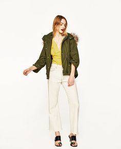 Image 1 of HOODED PARKA from Zara