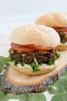 Lentil Mushroom Burgers Recipe