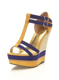 Willa Yellow Rafia Wedge - Wedges  - Shoes  - Miss Selfridge
