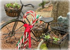 Cute use of those candy canes I see at the thrift stores all the time!