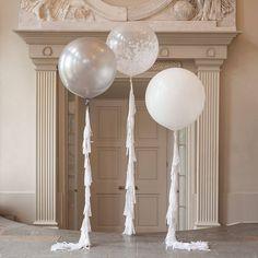 innocence feather filled giant balloon by bubblegum balloons | notonthehighstreet.com