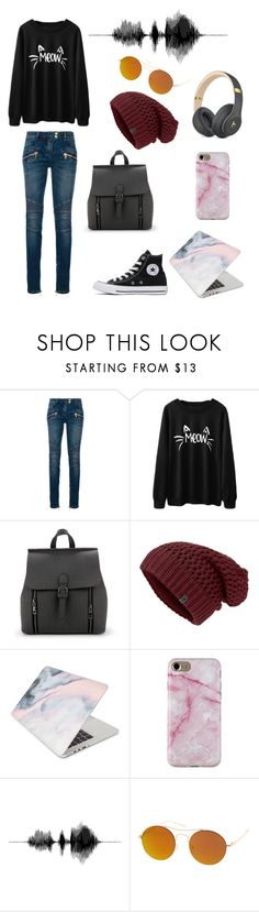 """""""DJ Mixes and Covers"""" by theneverlander ❤ liked on Polyvore featuring beauty, Balmain, Converse, Recover and SW Global"""