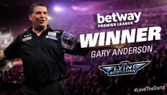First the World Championship, now the Premier League champion! #GaryAnderson