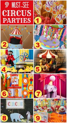 9 amazing circus parties you've got to see!   CatchMyParty.com