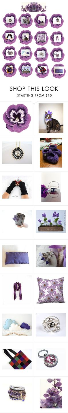 """""""Purple passion"""" by therusticpelican ❤ liked on Polyvore featuring Nourison, modern, contemporary, rustic and vintage"""