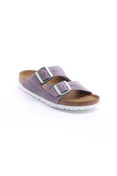 Birkenstock Lavender Arizona Soft Footbed Sandals in LAVENDER - side view