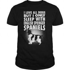 Awesome Tee ENGLISH SPRINGER SPANIELS Shirts & Tees