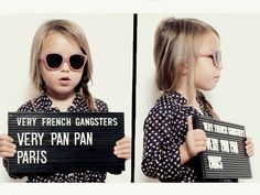 Your little hipster will be the coolest kid on the block in a pair of Very French Gangster's sunglasses.