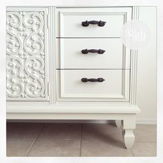 DIY furniture restoration. How to add legs to furniture. The Andi Dresser by Thirty Eighth Street