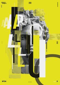 Creative poster where typography meets apollo's picture. Graphic Design Posters, Graphic Design Typography, Graphic Design Illustration, Graphic Design Inspiration, Rennaissance Art, Supreme Iphone Wallpaper, Vaporwave Art, Creative Posters, Art Graphique