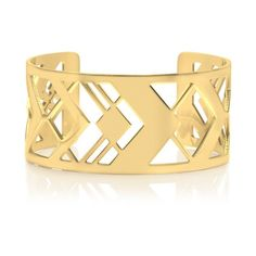 Tory Burch Chevron Fret Cuff ($105) ❤ liked on Polyvore featuring jewelry, bracelets, accessories, gold, tory burch bangle, chevron bangles, gold bangles, tory burch and polish jewelry