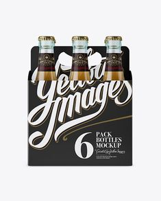 White Paper 6 Pack Beer Bottle Carrier Mockup - Front View (Preview)