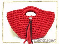 かぎ針編みのかごバッグ【タッセル・コンチョ風ボタン】 by AyuNa バッグ・財布・小物 バッグ