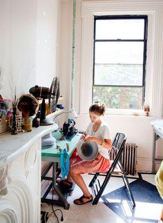 sewing room. Minimal.
