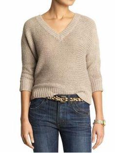 Splendid layering sweater - knit sideways?
