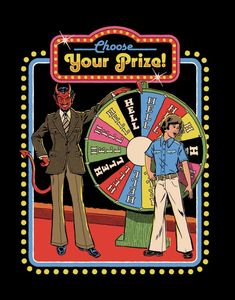 'Choose Your Prize' Poster by Steven Rhodes Horror Comics, Horror Art, Retro Art, Vintage Art, Clueless Quotes, Satanic Art, Bizarre Art, Retro Illustration, Vintage Horror